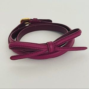 LIKE NEW Prada Belt Saffiano Leather Bow Made in Italy Size 36/90